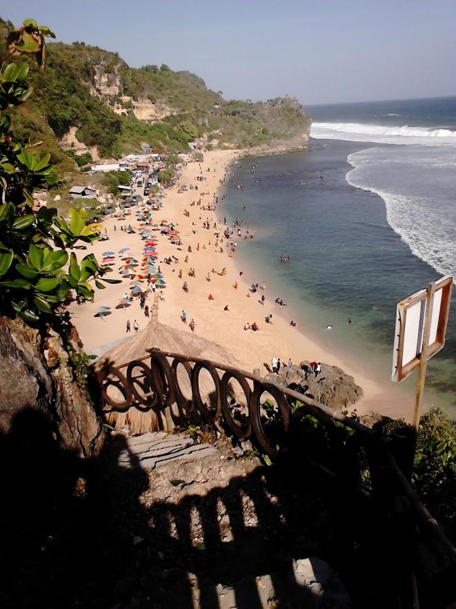 Pemandangan indah dari puncak tangga