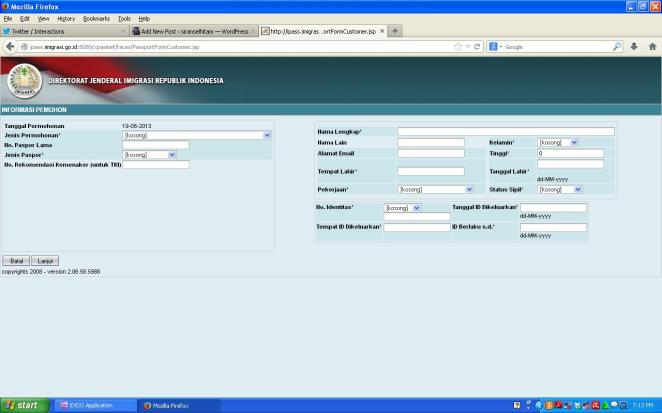 Screenshot Layanan Paspor Online