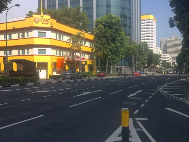 On my way to Raffles Place