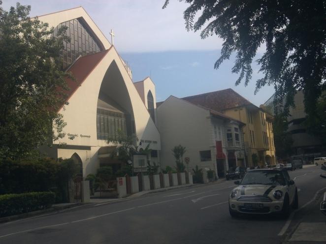 Tamil Methodist Church di seberang Beacon International College, dekat tempat kami makan