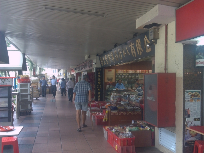 Toko-toko di sepanjang Chinatown
