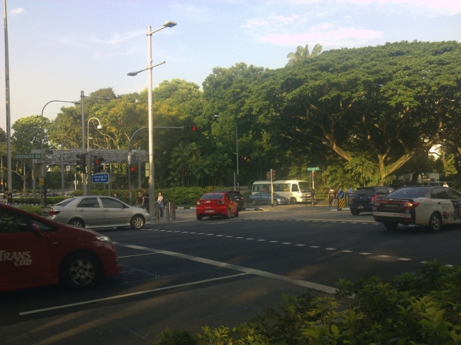 A junction beside the Istana