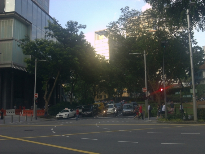 A junction at Orchard Road
