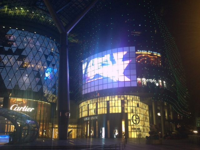 Ion Orchard at night