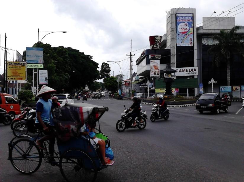 Simpang Jl. Jend. Sudirman dari arah yang lain