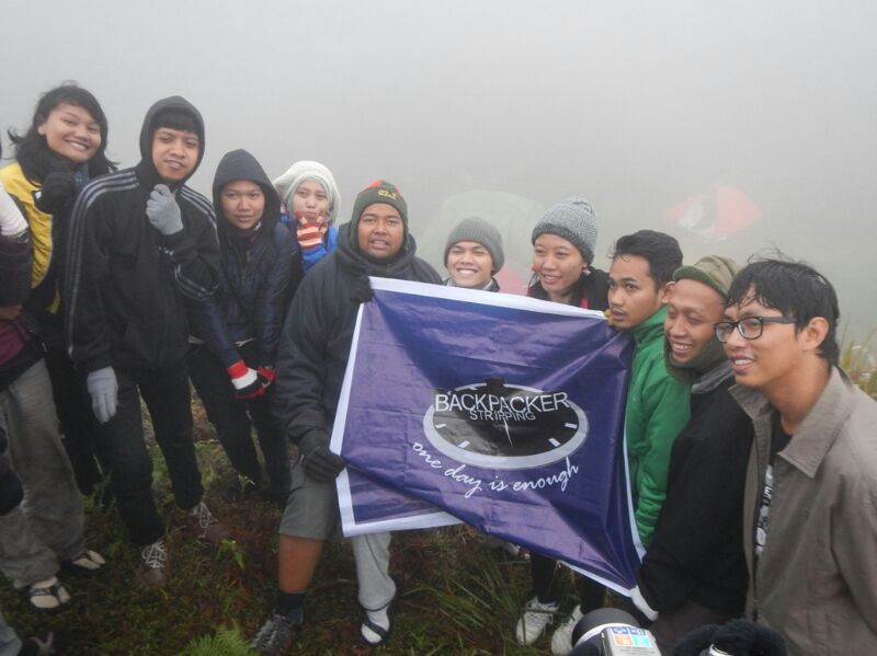 Backstrip di Puncak Prau