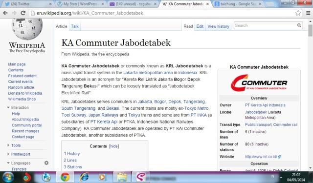Tah, Wikipedia aja udah menyebut KRl Jabodetabek sebagai sebuah sistem MRT di Jakarta. Ditambah, kereta yang digunakan ternyata bekas kereta di Jepang.
