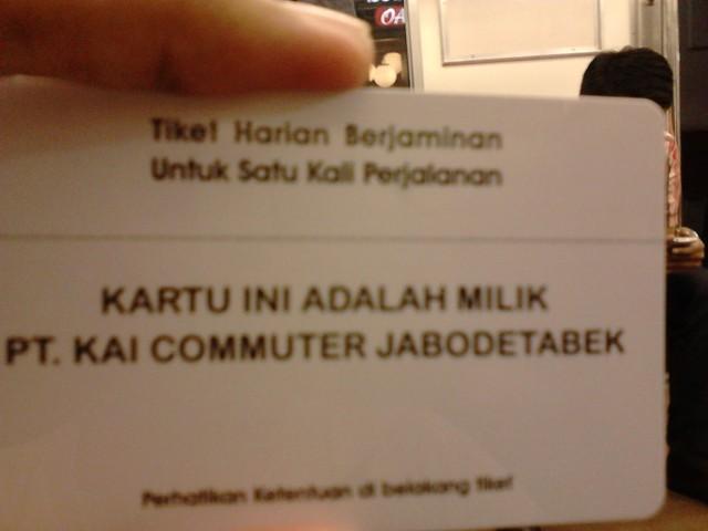 My first Commuter Line card. Horray!