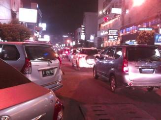 Jalan Sabang yang ramai