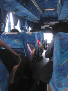 Inside the bus. So Damri-like!