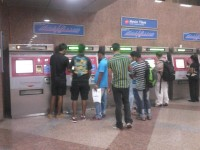 Antrian di depan Ticketing Machine