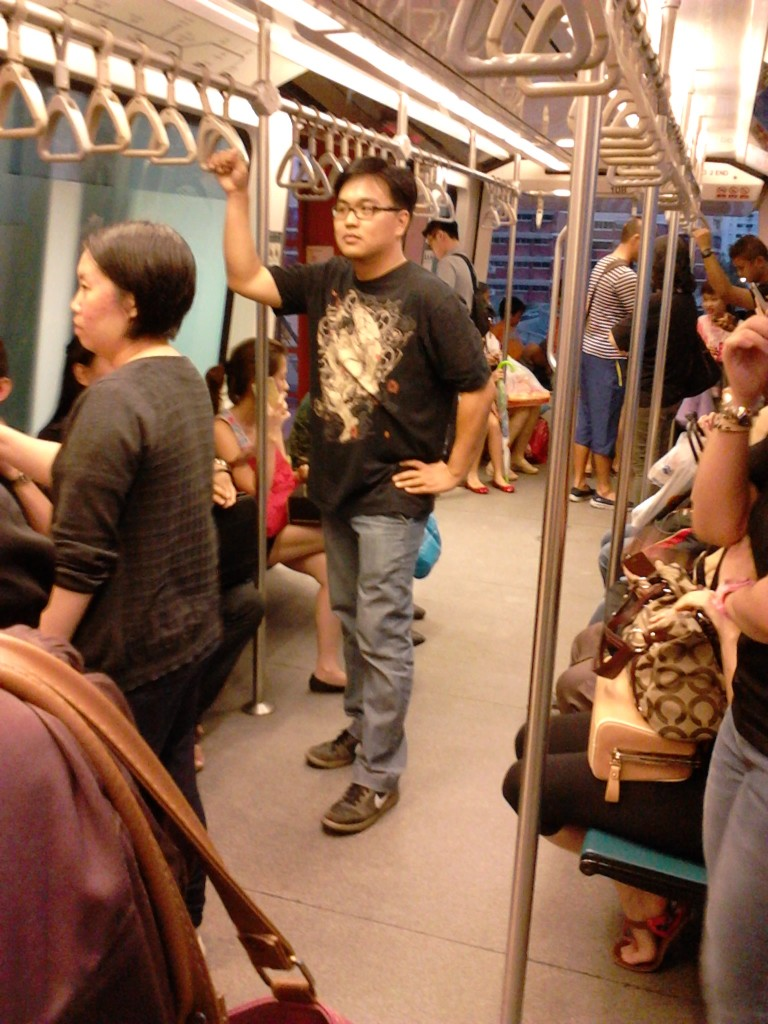 Inside the LRT train