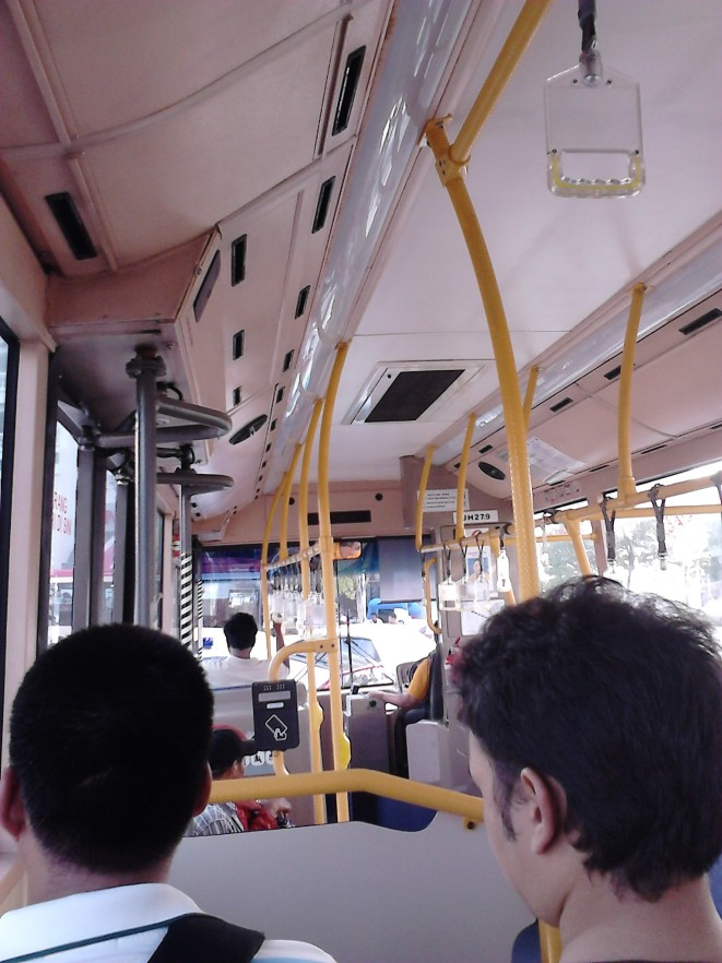 Inside the Rapid Penang bus