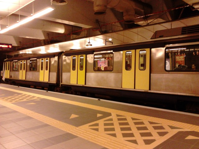 The LRT train passing by