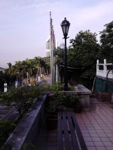 View from parking area