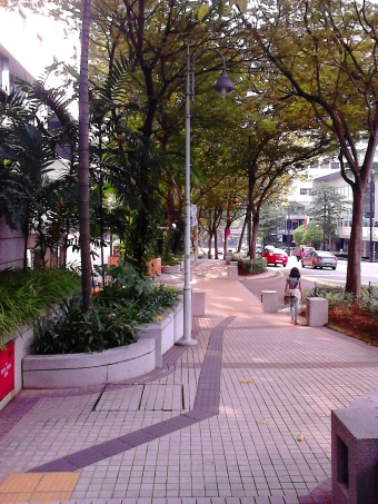 Kuala Lumpur pedestrian. Clean and green, lovely!