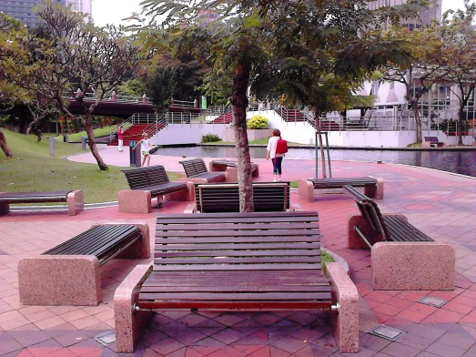 The benches
