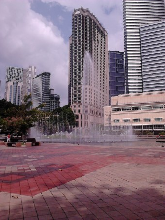 The fountain when reaching its highest pressure