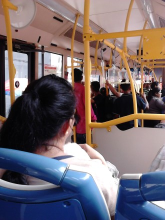 Inside the GoKL Bus
