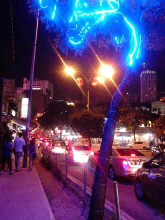 Bukit Bintang traffic jam at night