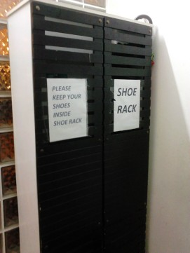Put your shoes here