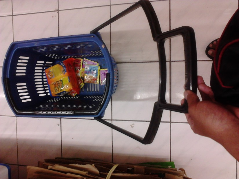 KK Mart shopping bucket. Unique!