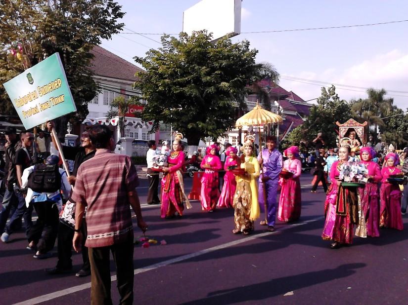 Barisan dari Kabupaten Sumenep, Jawa Timur