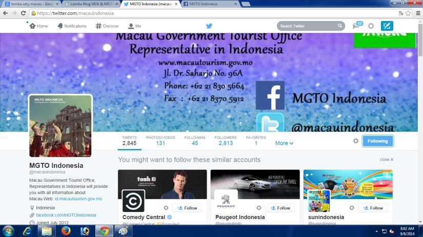Follow MGTO di Twitter