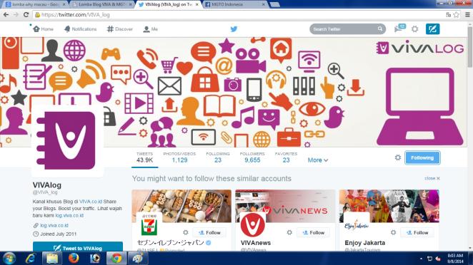 Follow VIVAlog di Twitter