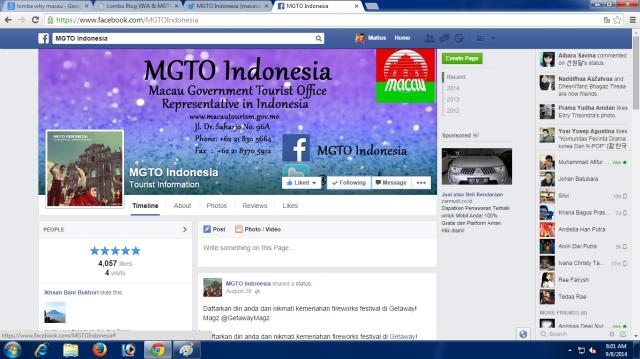 Like MGTO di Facebook