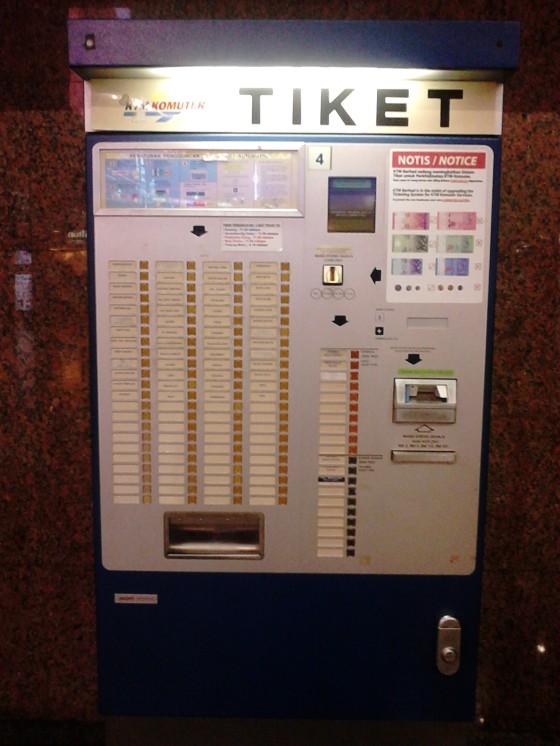 KTM Komuter vending machine
