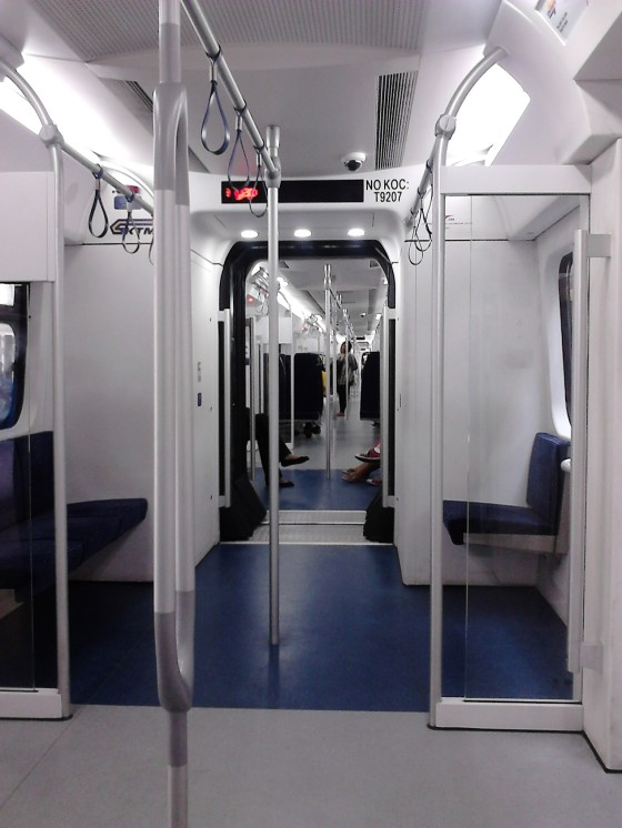 Inside the KTM Komuter back to KL. This is the new armada.