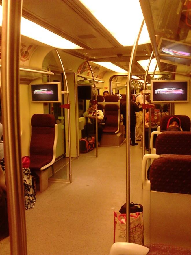 Inside the KLIA Transit train