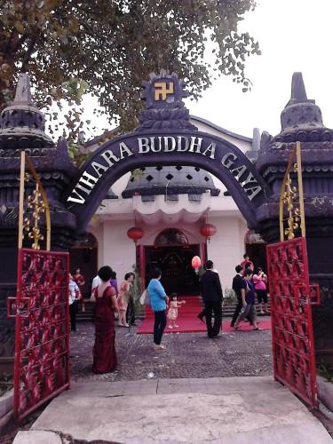 Vihara Buddha Gaya dan sisa-sisa upacara pernikahan
