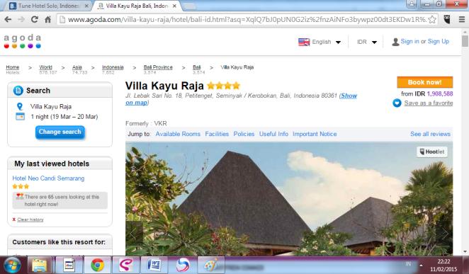 Villa Kayu Raja, Agoda - Lihat kan bedanya?