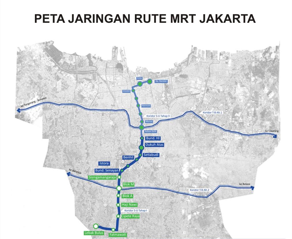 mrt jakarta Jalur mrt jakarta dengan adanya jalur mrt jakarta, banyak orang akan lebih memilih untuk naik angkutan umum daripada harus bermacet-macetan dengan mobil pribadi.