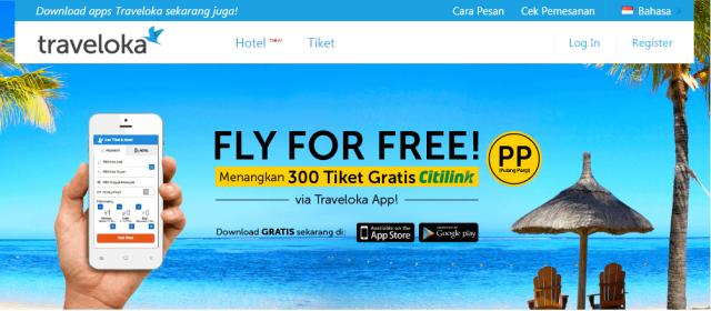 Promo Fly For Free dari Traveloka