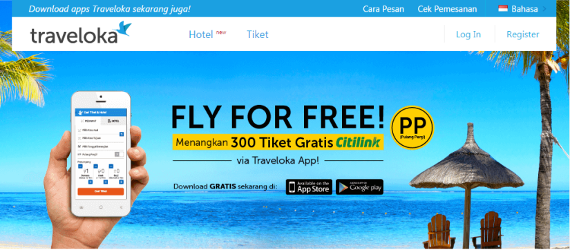 Promo Fly For Free dari Traveloka