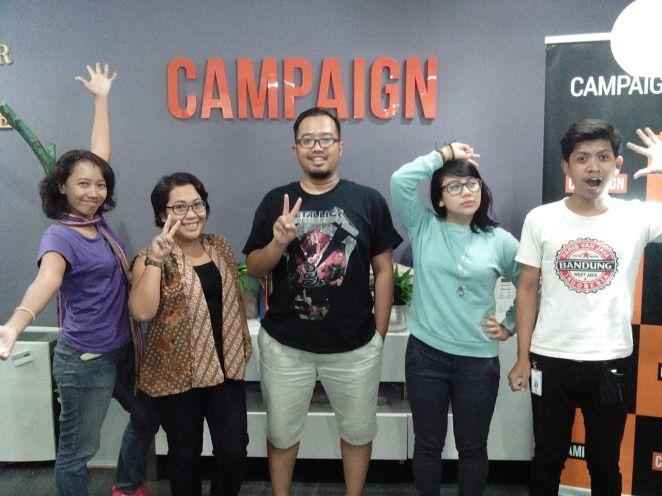 Bersama kakak-kakak TBI di Blogger Gathering Campaign.com