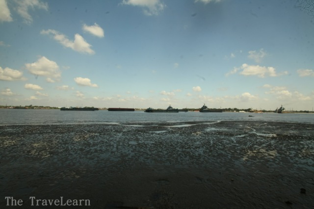 This is not a beach, this is Musi River (Sungai Musi)
