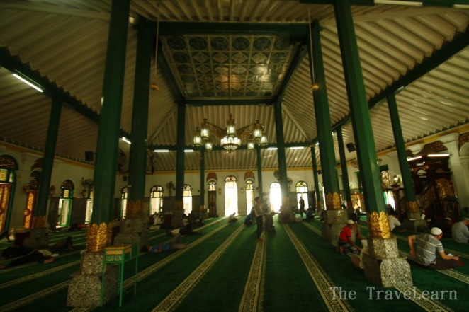 Inside the Great Mosque of Palembang (Masjid Agung Palembang)