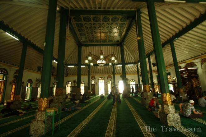 Inside the Great Mosque of Palembang (Masjid Agung Palembang)