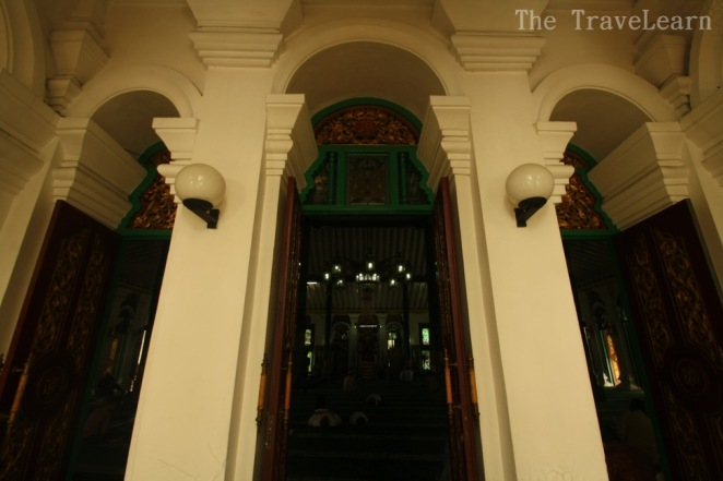 The high and long inner gate of Great Mosque of Palembang