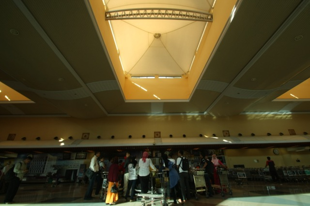 Inside the Sultan Mahmud Badaruddin II Airport, Palembang. Nothing special with the interior.