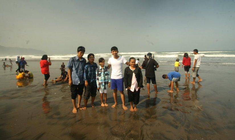 My family and I at Parangtritis Beach, Yogyakarta