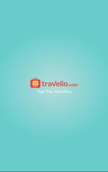 Halaman muka aplikasi Travelio