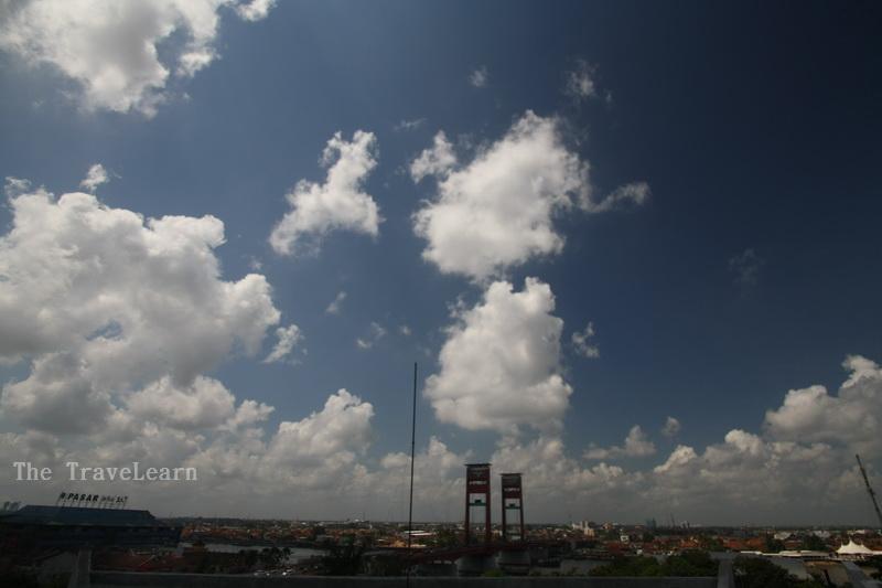 Panorama dari puncak MONPERA Palembang