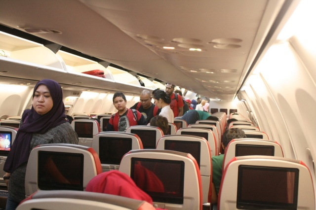 Interior modern pesawat Malindo Air