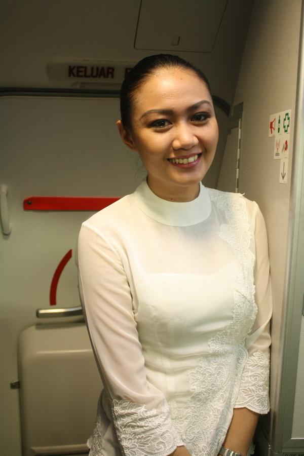 A beautiful stewardess of Malindo Air