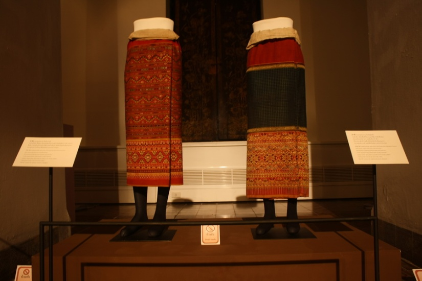Collection of tThai traditional clothes, Bangkok National Museum